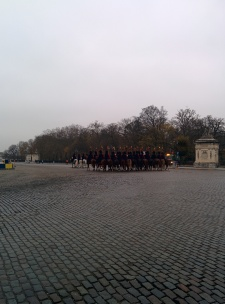Ceremonial escort to the Belgian palace